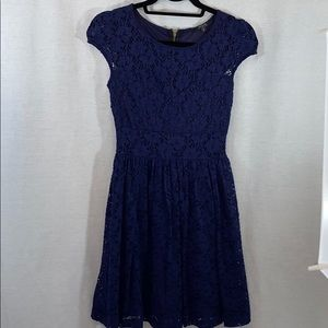 UEC Indigo blue Guess lace dress, fit n flare